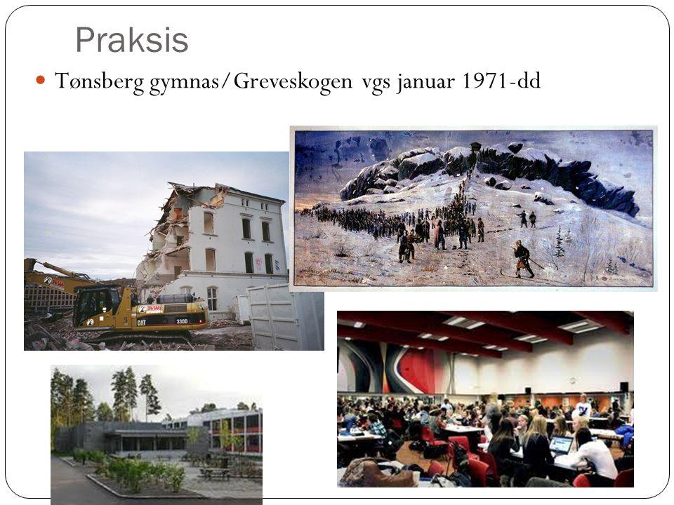 Praksis Tønsberg gymnas/Greveskogen vgs januar 1971-dd