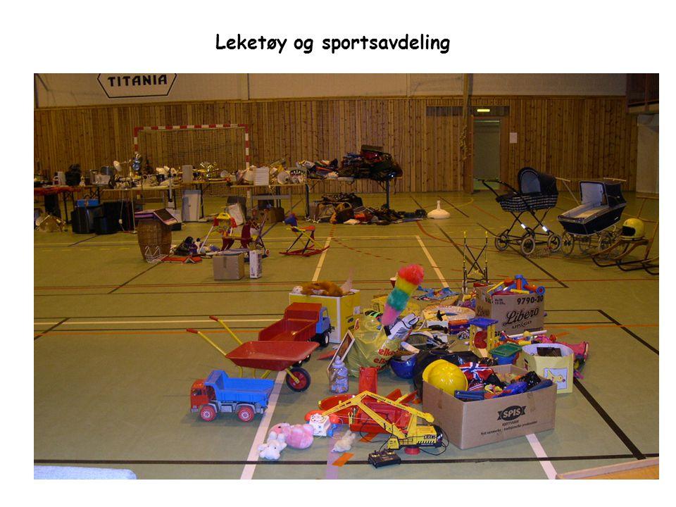 Leketøy og sportsavdeling