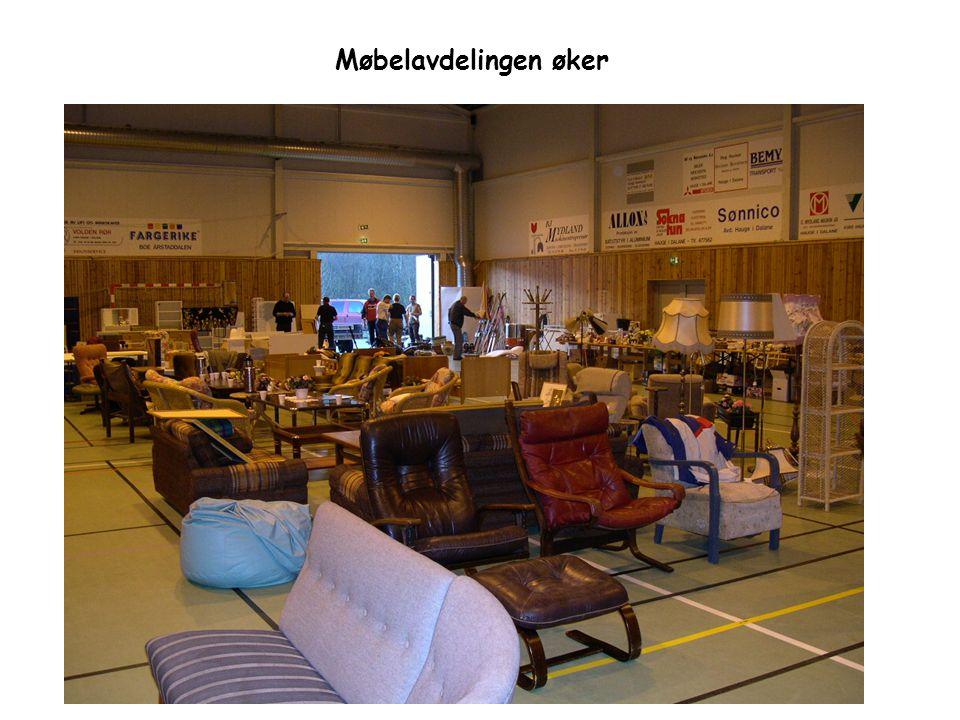 Møbelavdelingen øker