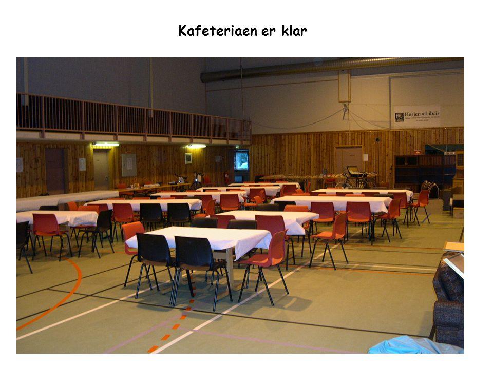 Kafeteriaen er klar
