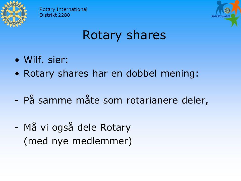 Rotary International Distrikt 2280 Rotary shares Wilf.