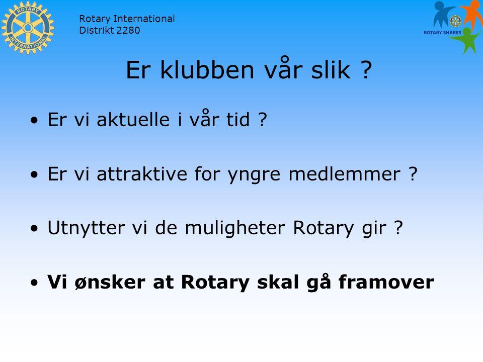 Rotary International Distrikt 2280 Er klubben vår slik .