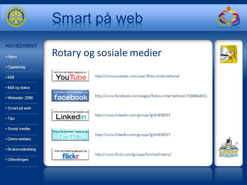 http://www.youtube.com/user/RotaryInternational http://www.facebook.com/pages/Rotary-International/7268844551 http://www.linkedin.com/groups?gid=85855