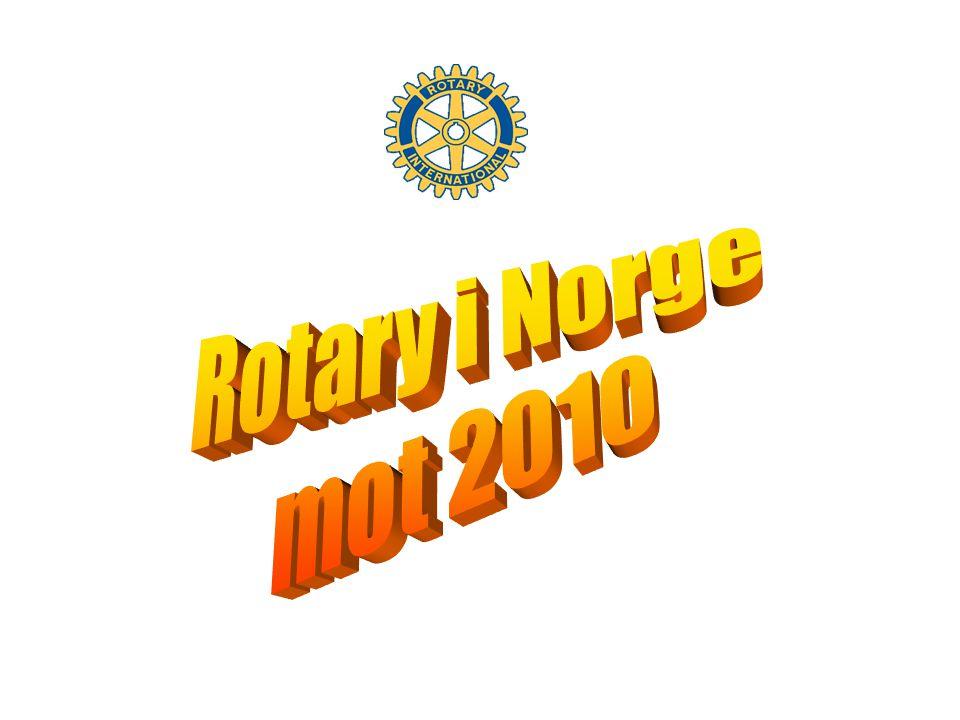ROTARY mot år 2010 En mulighetenes organisasjon Grunnpilarer –Vennskap –Etikk –Utveksling av yrkeserfaring –Arbeide for internasjonal fred og forståelse