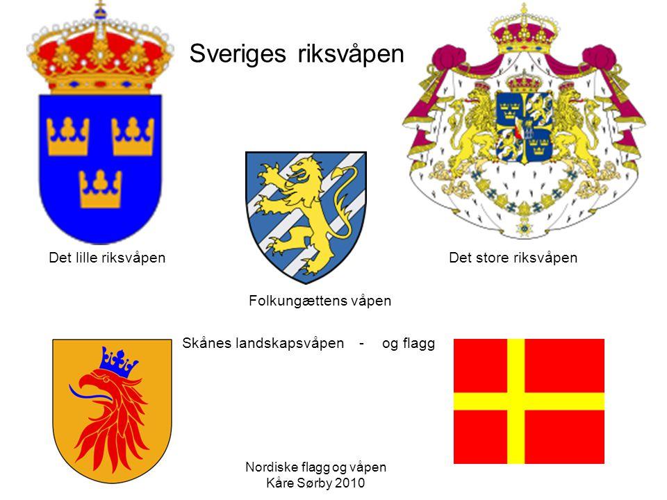 Kalmarunionens flagg Dannebrog Prins Chr.Fr.- feb.