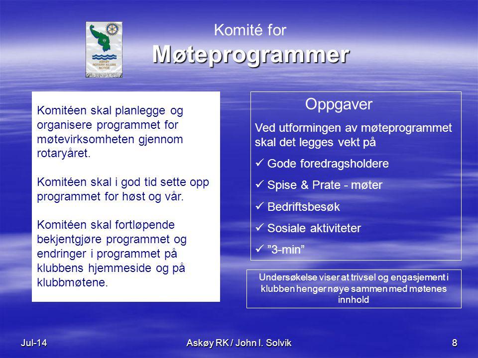 Klubbens hjemmeside Jul-14Askøy RK / John I.