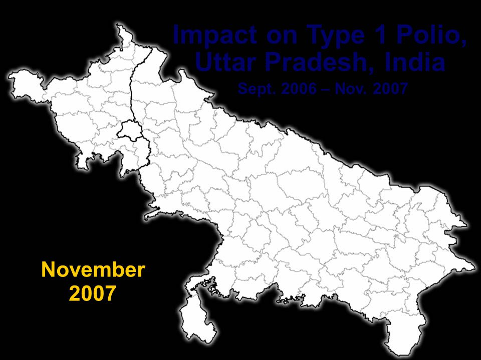 PETS 29 Impact on Type 1 Polio, Uttar Pradesh, India Sept. 2006 – Nov. 2007 October 2007