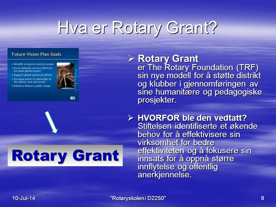 Hva er Rotary Grant.