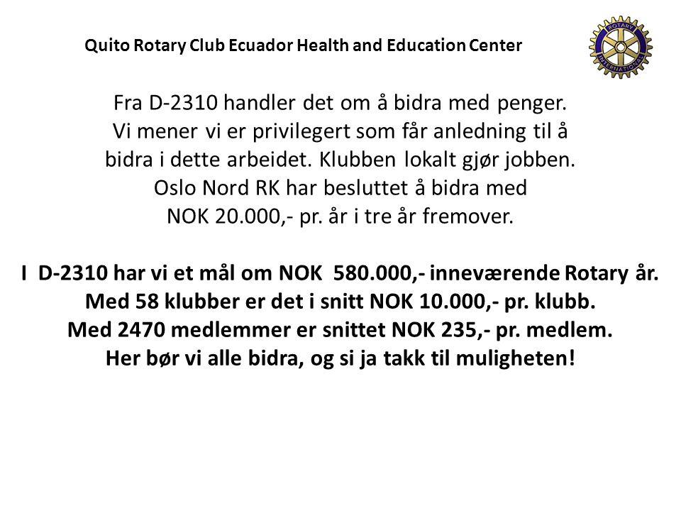 Oslo Nord RK har opprettet en egen konto for prosjektet.