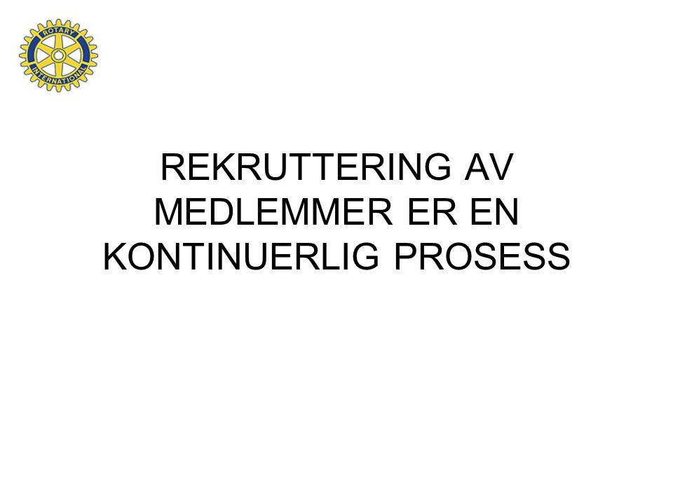 REKRUTTERING AV MEDLEMMER ER EN KONTINUERLIG PROSESS