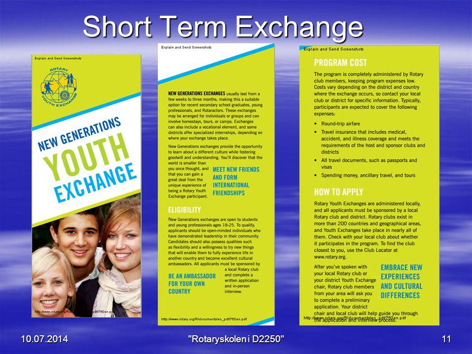 Short Term Exchange 10.07.201411