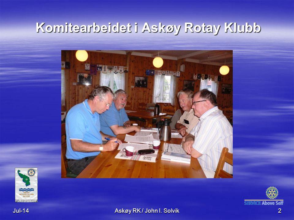 Jul-14Askøy RK / John I. Solvik2 Komitearbeidet i Askøy Rotay Klubb