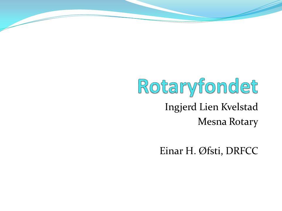 Ingjerd Lien Kvelstad Mesna Rotary Einar H. Øfsti, DRFCC