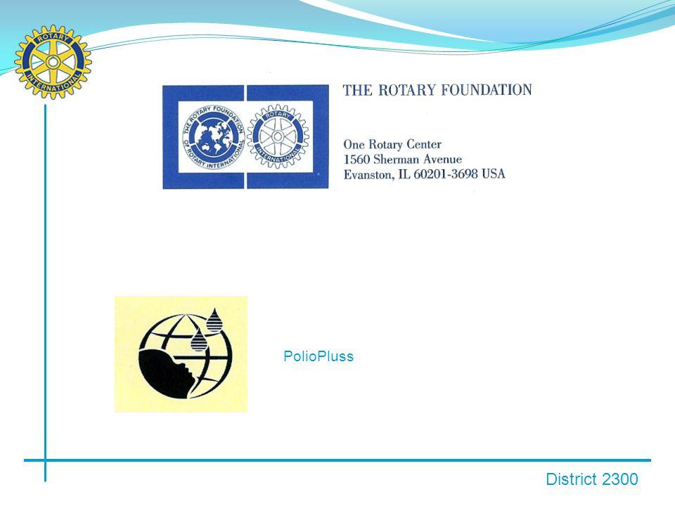 District 2300 ANNUAL GIVINGS: Distrikt 2300: 2009-2010: USD 39 512,- fra 33 av 35 klubber.