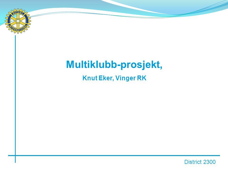 District 2300 Multiklubb-prosjekt, Knut Eker, Vinger RK