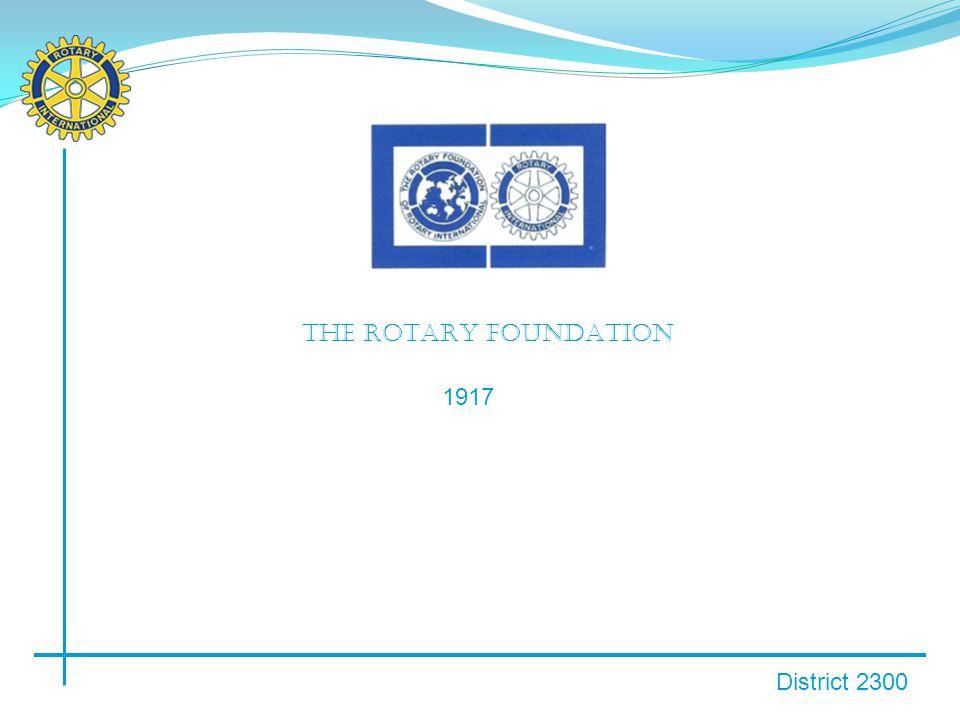 District 2300 1918: første bidrag USD 26,50 fra Rotary Club of Kansas City.