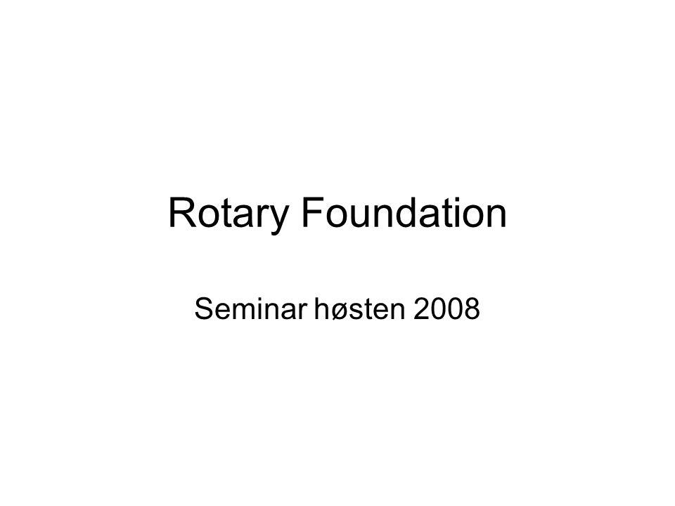 Rotary Foundation Seminar høsten 2008