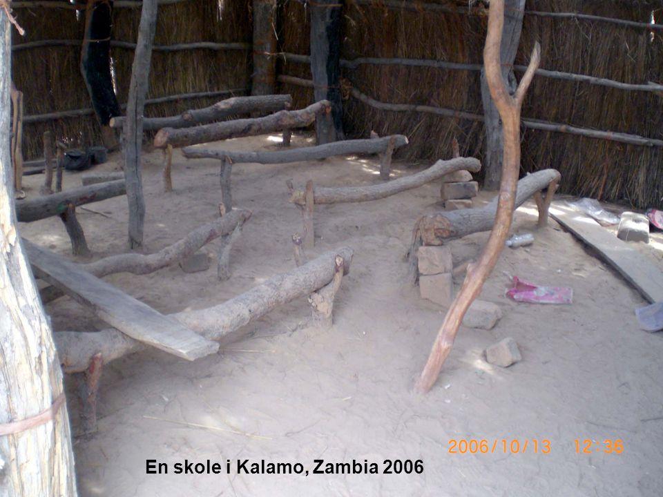 En skole i Kalamo, Zambia 2006