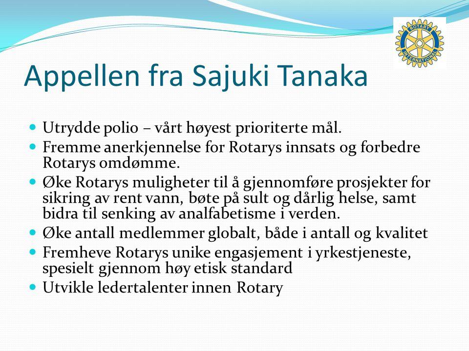 Appellen fra Sajuki Tanaka Utrydde polio – vårt høyest prioriterte mål.