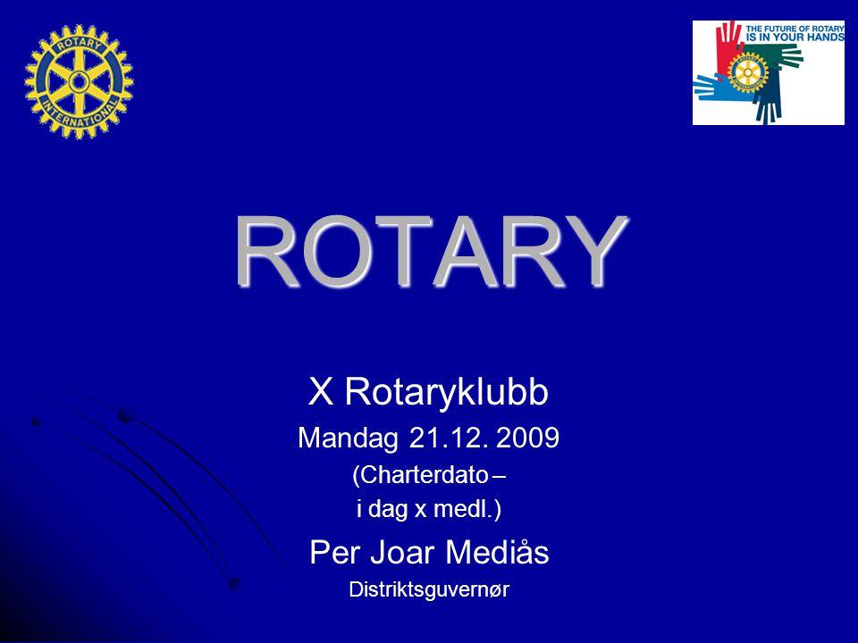 ROTARY X Rotaryklubb Mandag 21.12.