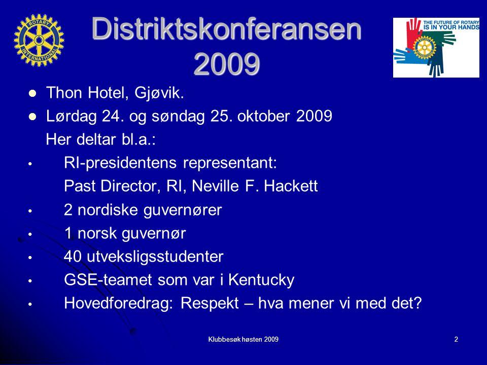 Distriktskonferansen 2009 Thon Hotel, Gjøvik. Thon Hotel, Gjøvik.