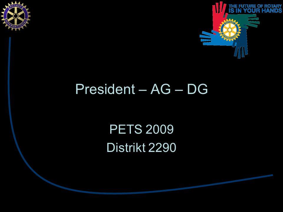 President – AG – DG PETS 2009 Distrikt 2290