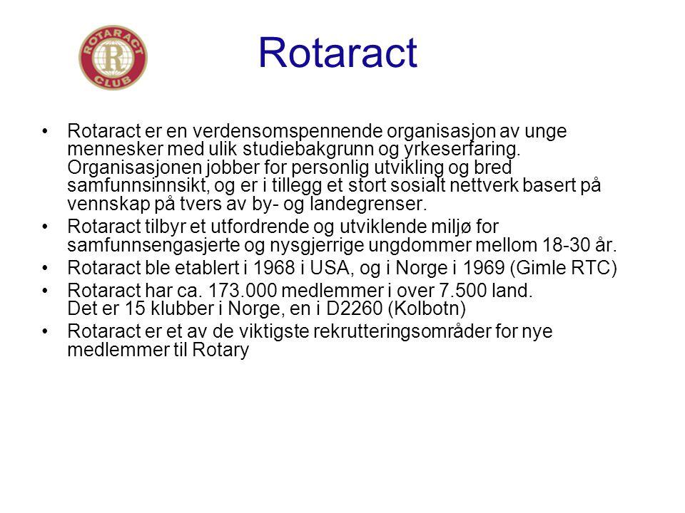 Rotaract Rotaract er en verdensomspennende organisasjon av unge mennesker med ulik studiebakgrunn og yrkeserfaring.