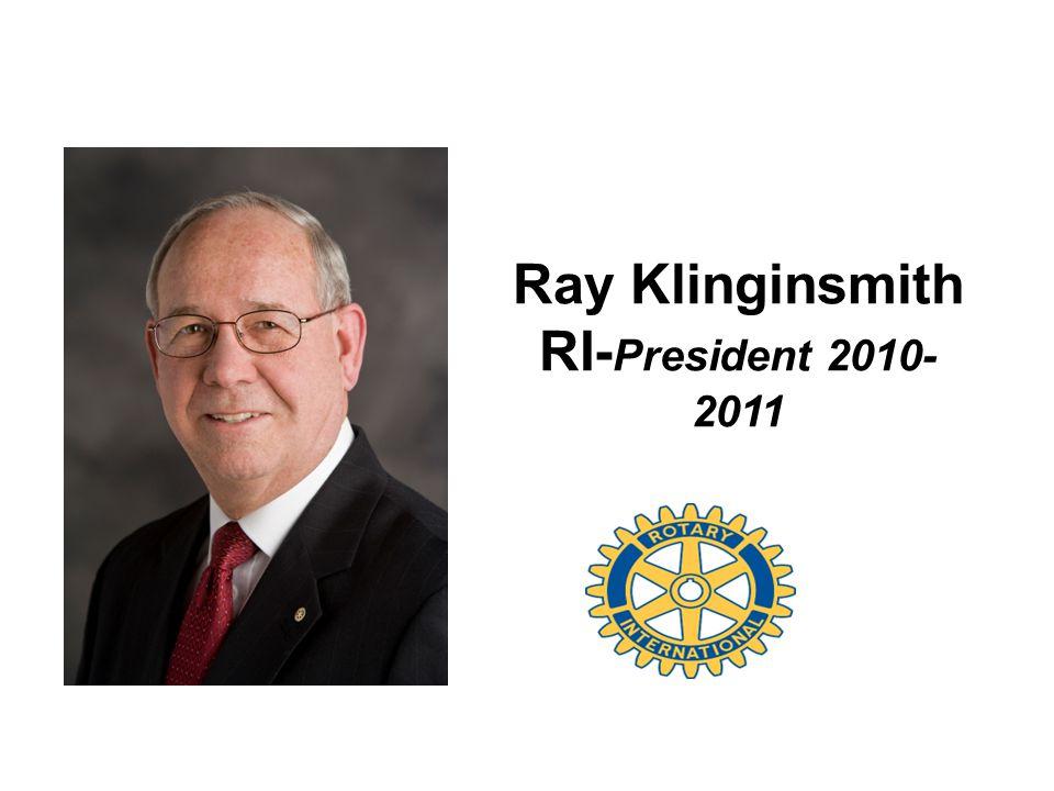 Ray Klinginsmith RI- President 2010- 2011