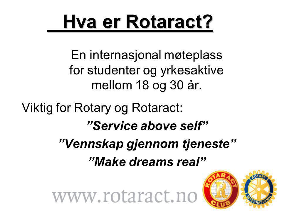 Hva er Rotaract. Hva er Rotaract.