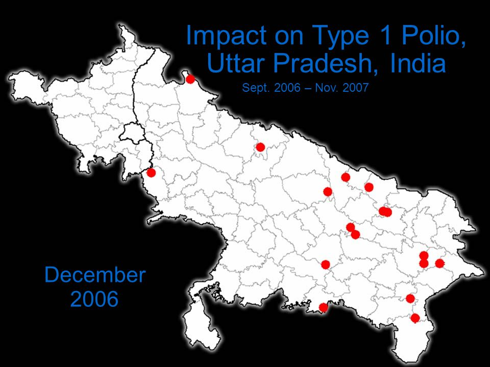 Impact on Type 1 Polio, Uttar Pradesh, India Sept. 2006 – Nov. 2007 December 2006
