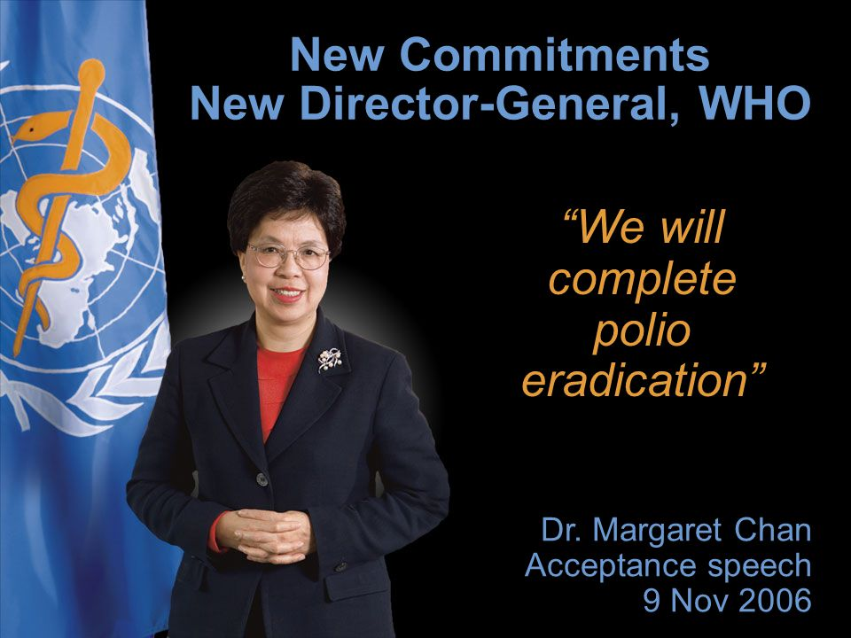 We will complete polio eradication Dr.