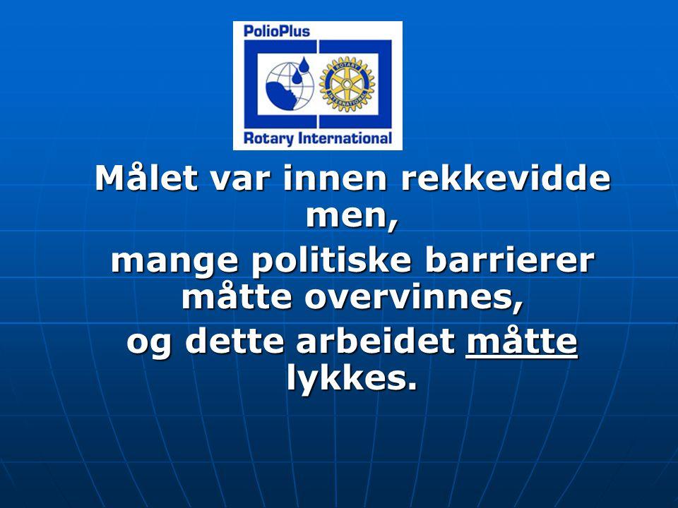 POLIO PLUS: Aktiviteter; handlingsplan Minst ett klubbmøte pr.