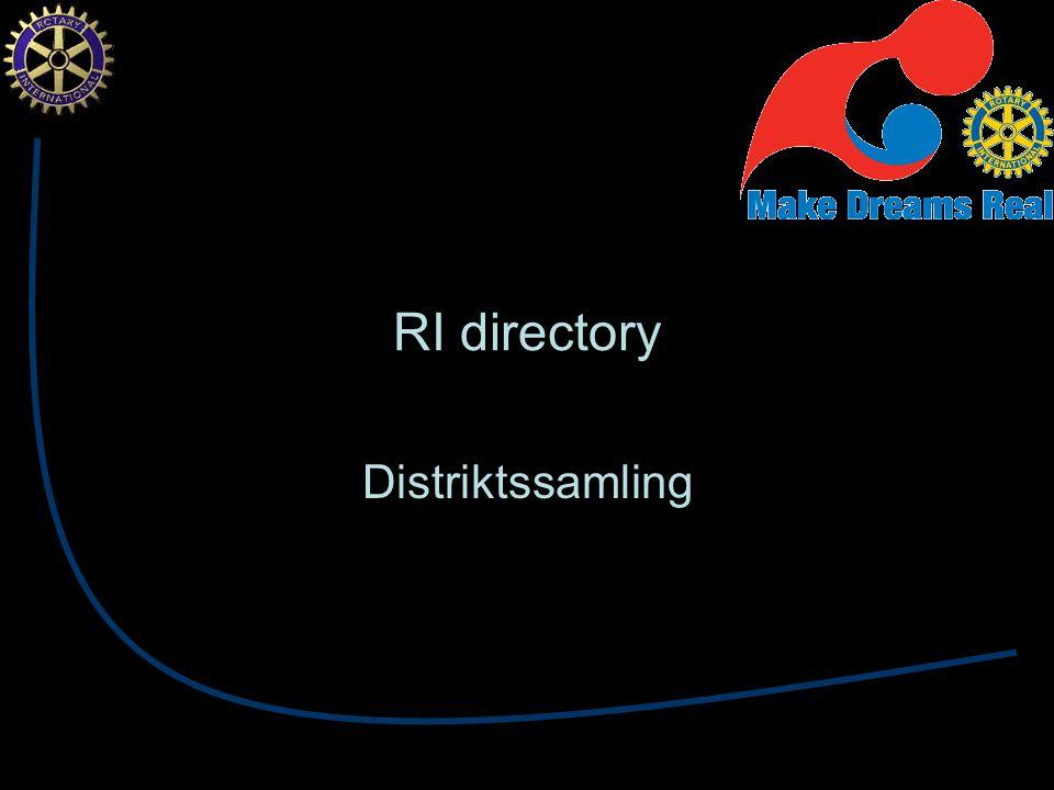 RI directory Distriktssamling