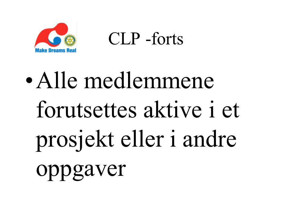 CLP -forts Alle medlemmene forutsettes aktive i et prosjekt eller i andre oppgaver
