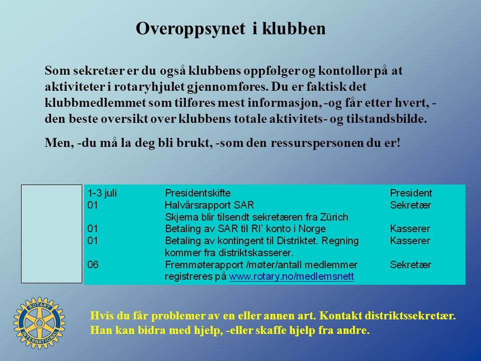 KONTINGENTER Distriktskasserer Hilde Lingstad