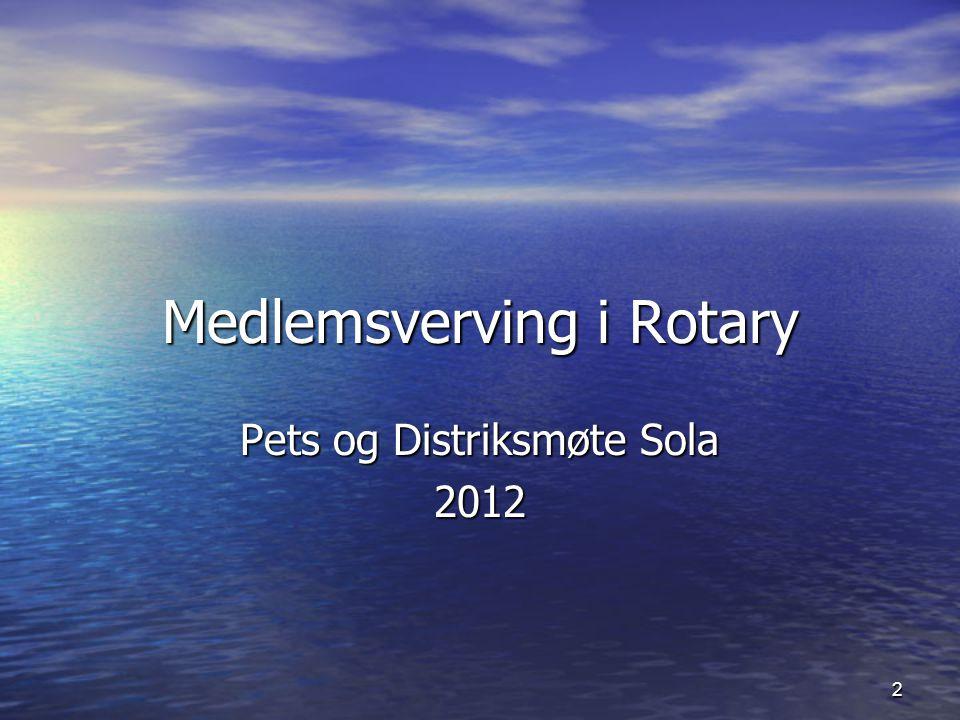 2 Medlemsverving i Rotary Pets og Distriksmøte Sola 2012