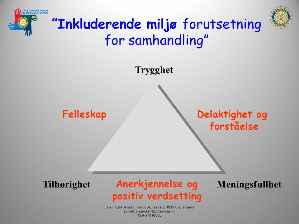 Svein-Eirik Jensen, Hertug Skules vei 2, 4633 Kristiansand E-mail: s.e.jensen@consilio-as.no Mob 970 80036 Hvorfor er AKTIVITET viktig.
