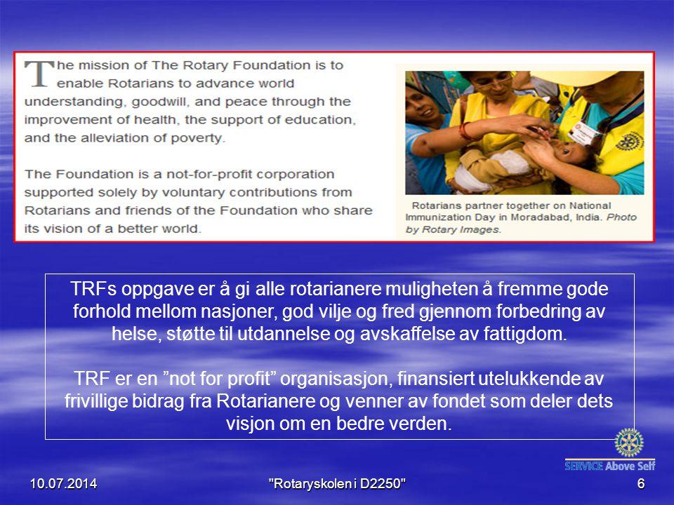 10.07.2014 Rotaryskolen i D2250 17 Massiv innsats og beredskap gjorde at smitten ikke spredte seg.