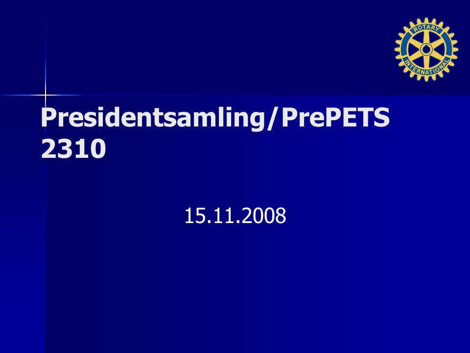 Momenter Første formelle samling for innkommende presidenter rotaryåret 2009-2010 Formål med samlingen – –(For innkommende presidenter) Orientering om programmet – –Hva skal innkommende gjøre som sittende presidenter bør kjenne til.