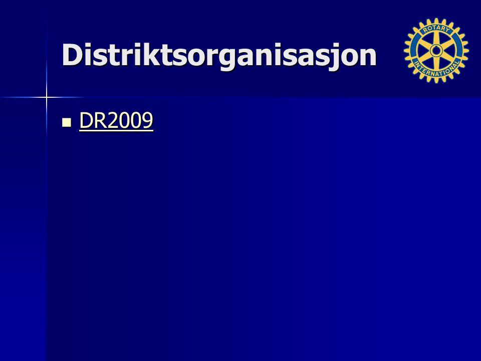 Distriktsorganisasjon DR2009 DR2009 DR2009