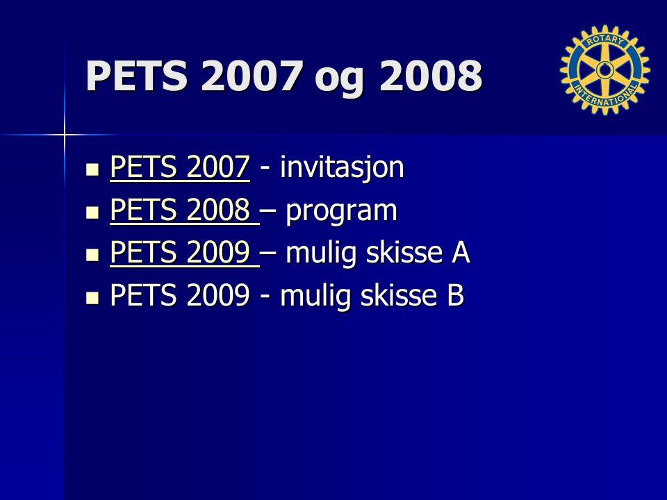 PETS 2007 og 2008 PETS 2007 - invitasjon PETS 2007 - invitasjon PETS 2007 PETS 2007 PETS 2008 – program PETS 2008 – program PETS 2008 PETS 2008 PETS 2
