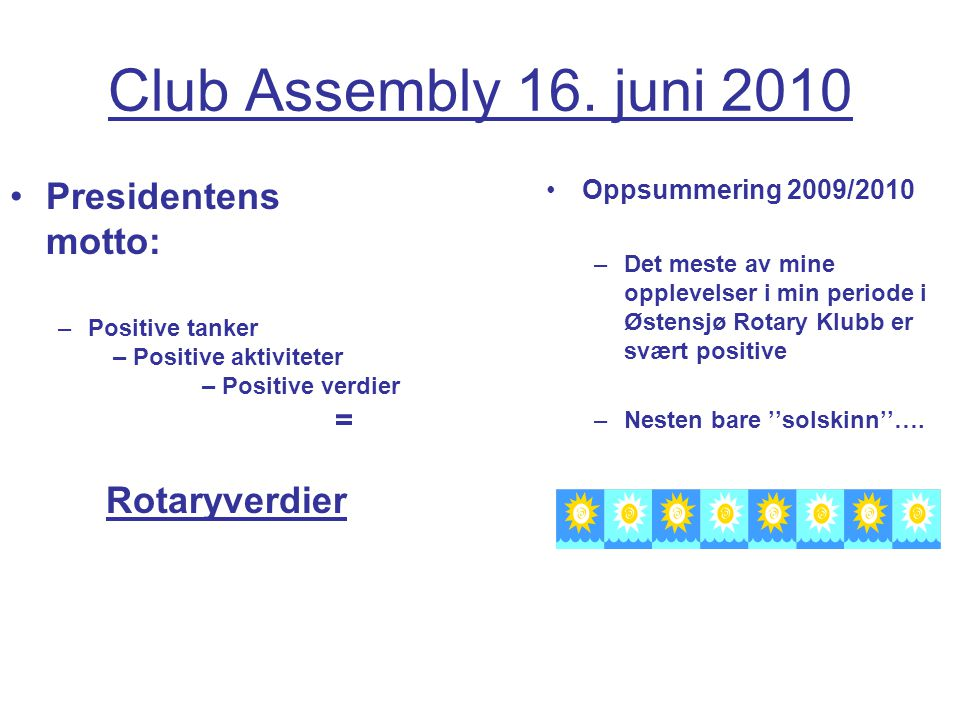 Club Assembly 16.