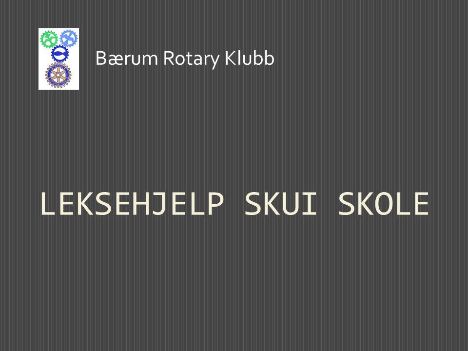 LEKSEHJELP SKUI SKOLE Bærum Rotary Klubb