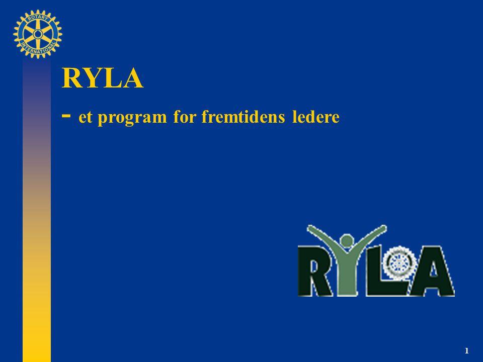 1 RYLA - et program for fremtidens ledere