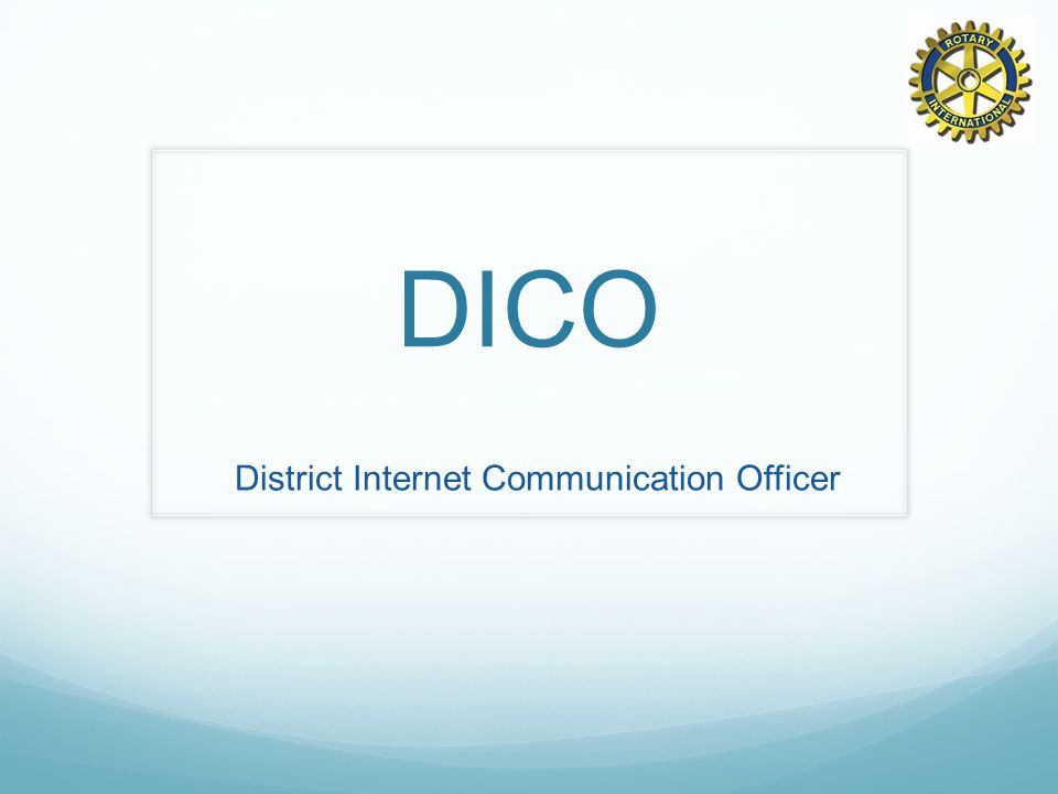 DICO District Internet Communication Officer