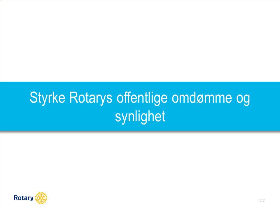 | 22 Styrke Rotarys offentlige omdømme og synlighet