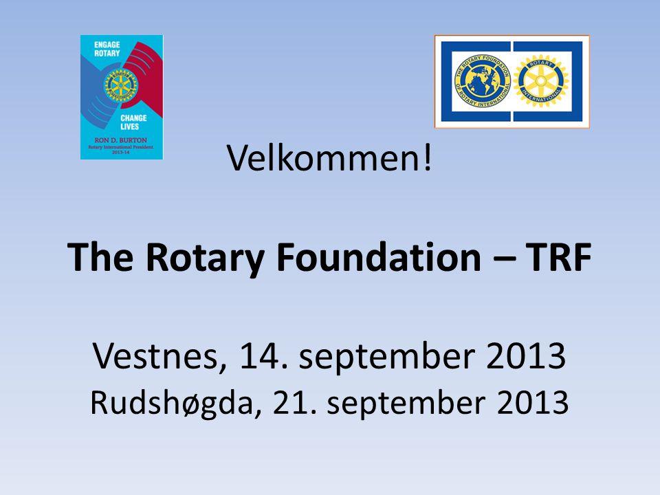 Agenda Kl 1030: Oppstart – Innledning, presentasjon – Hva er TRF – litt generell informasjon – Hva er viktige endringer for TRF fra 1.