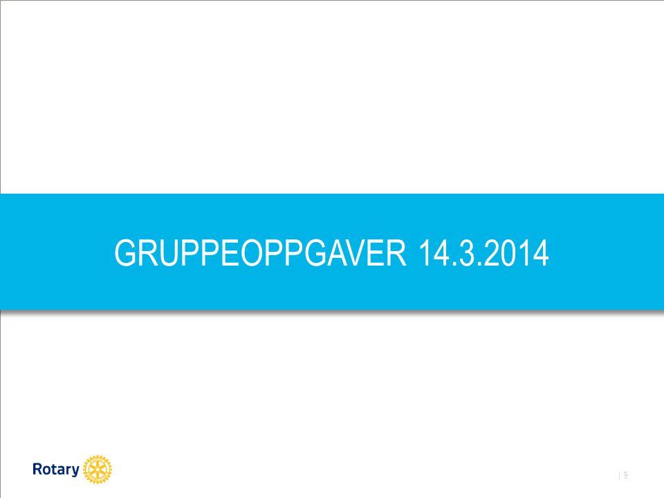 | 9 GRUPPEOPPGAVER 14.3.2014