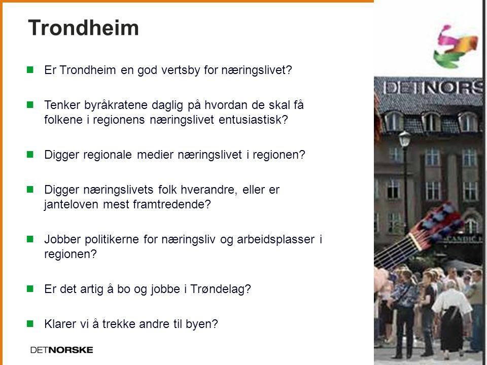Trondheim Er Trondheim en god vertsby for næringslivet.