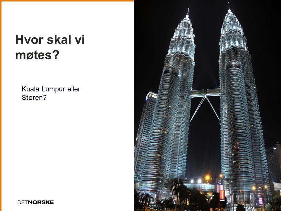 Hvor skal vi møtes 15 Kuala Lumpur eller Støren
